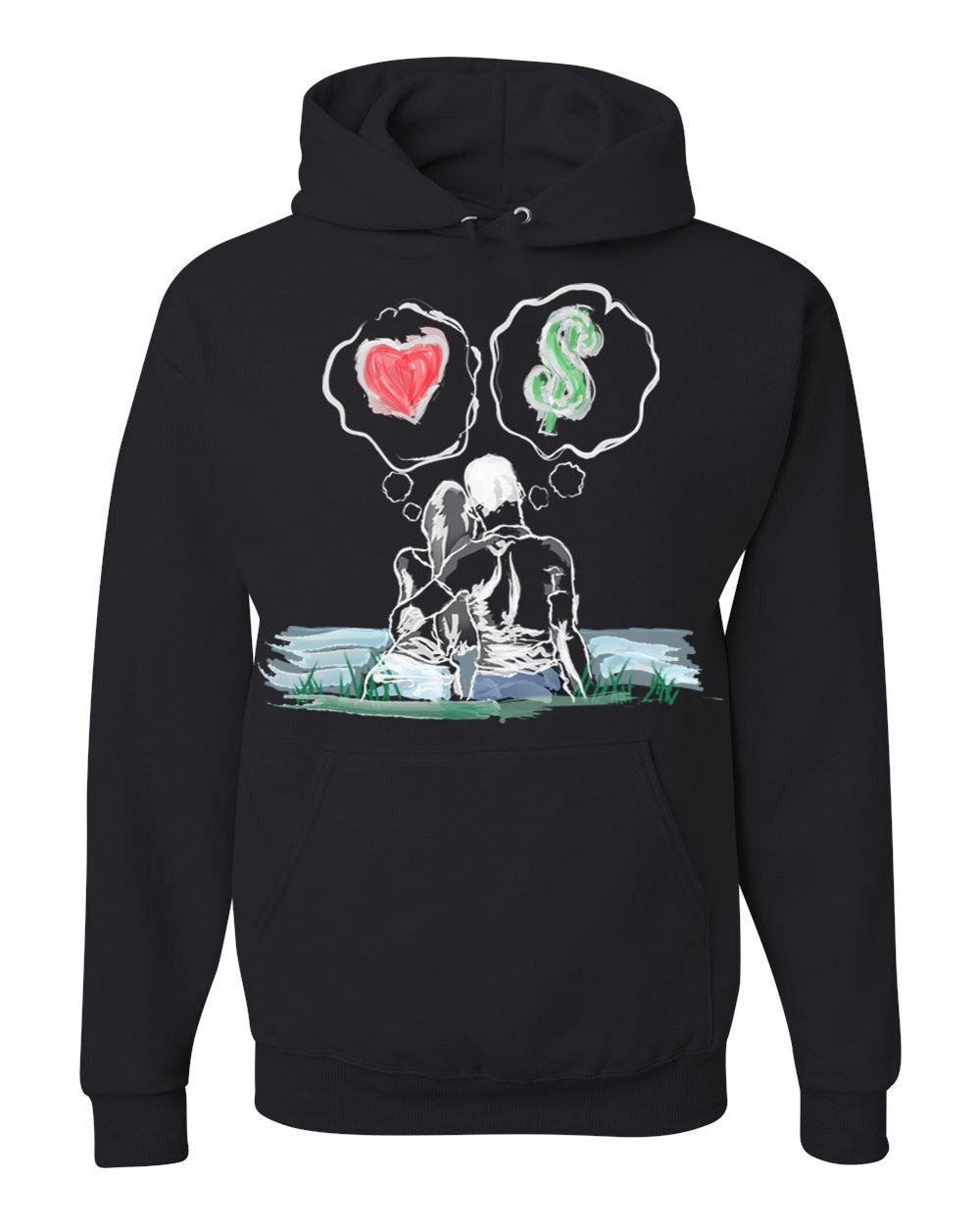 Guy Benson Collection Love Vs Money Hoodie -Black