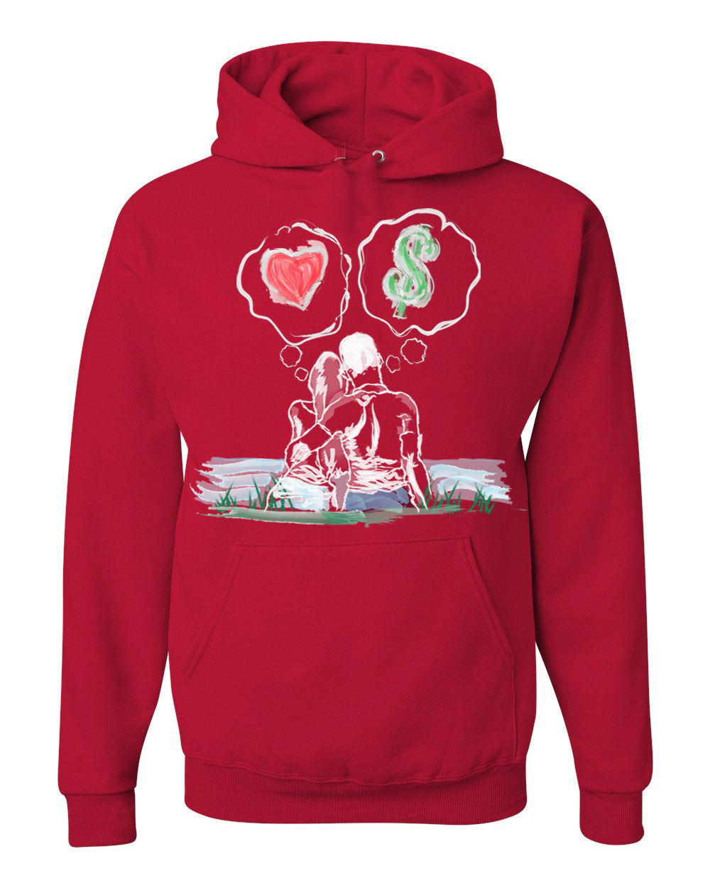 0afead03314a4d Guy Benson Collection Love Vs Money Hoodie -Red – GBC BOUTIQUE
