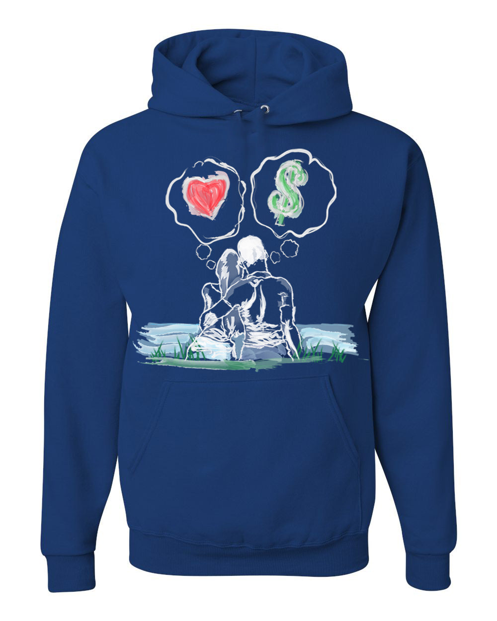 Guy Benson Collection Love Vs Money Hoodie -Royal Blue