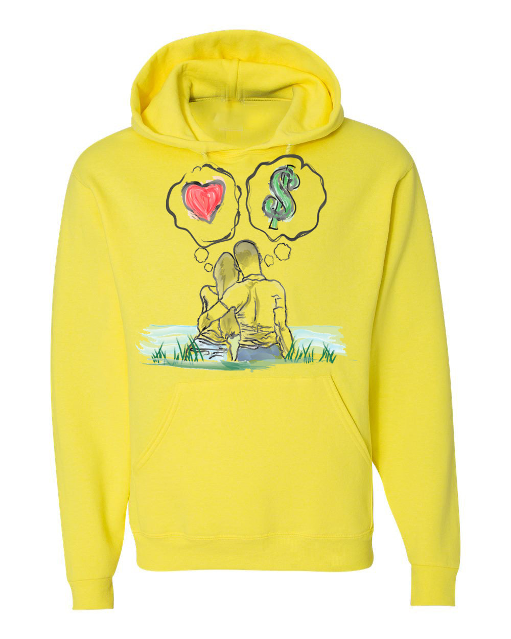 Guy Benson Collection Love Vs Money Hoodie -Neon Yellow
