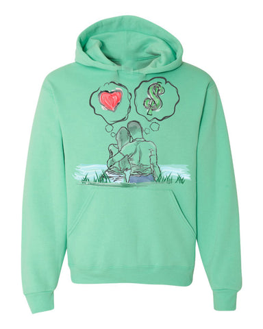 Guy Benson Collection Love Vs Money Hoodie -Mint