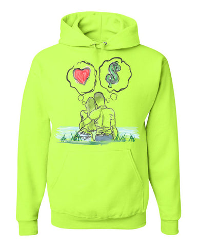 Guy Benson Collection Love Vs Money Hoodie -Safety Green