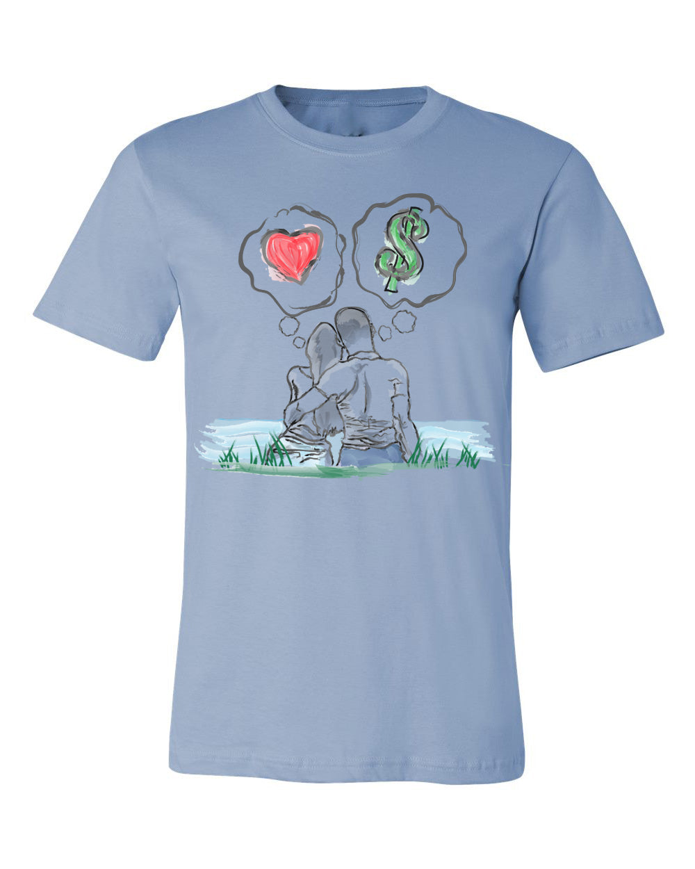 Guy Benson Collection Love Vs Money T-Shirt -Baby Blue