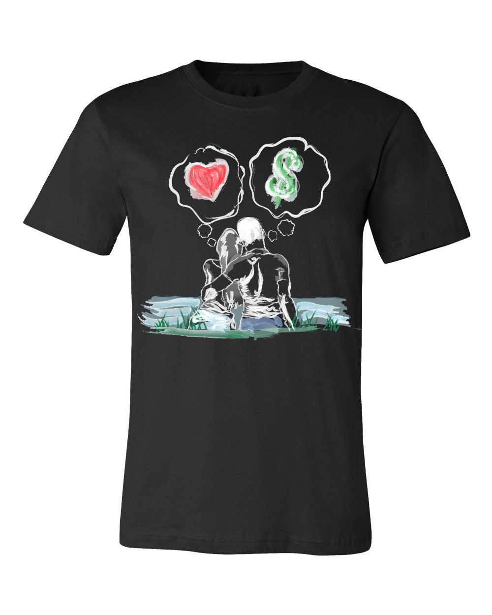 Guy Benson Collection Love Vs Money T-Shirt -Black