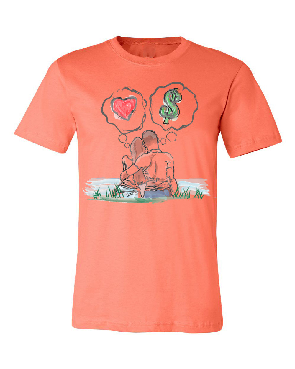 Guy Benson Collection Love Vs Money T-Shirt -Coral