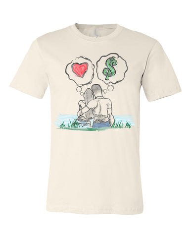 Guy Benson Collection Love Vs Money T-Shirt -Cream
