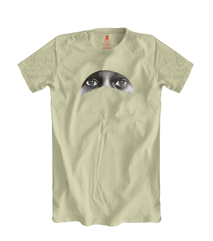 Hijab Eyes Tee - Cream