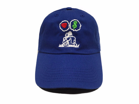 Guy Benson Collection Love Vs Money Dad Hat - Royal Blue