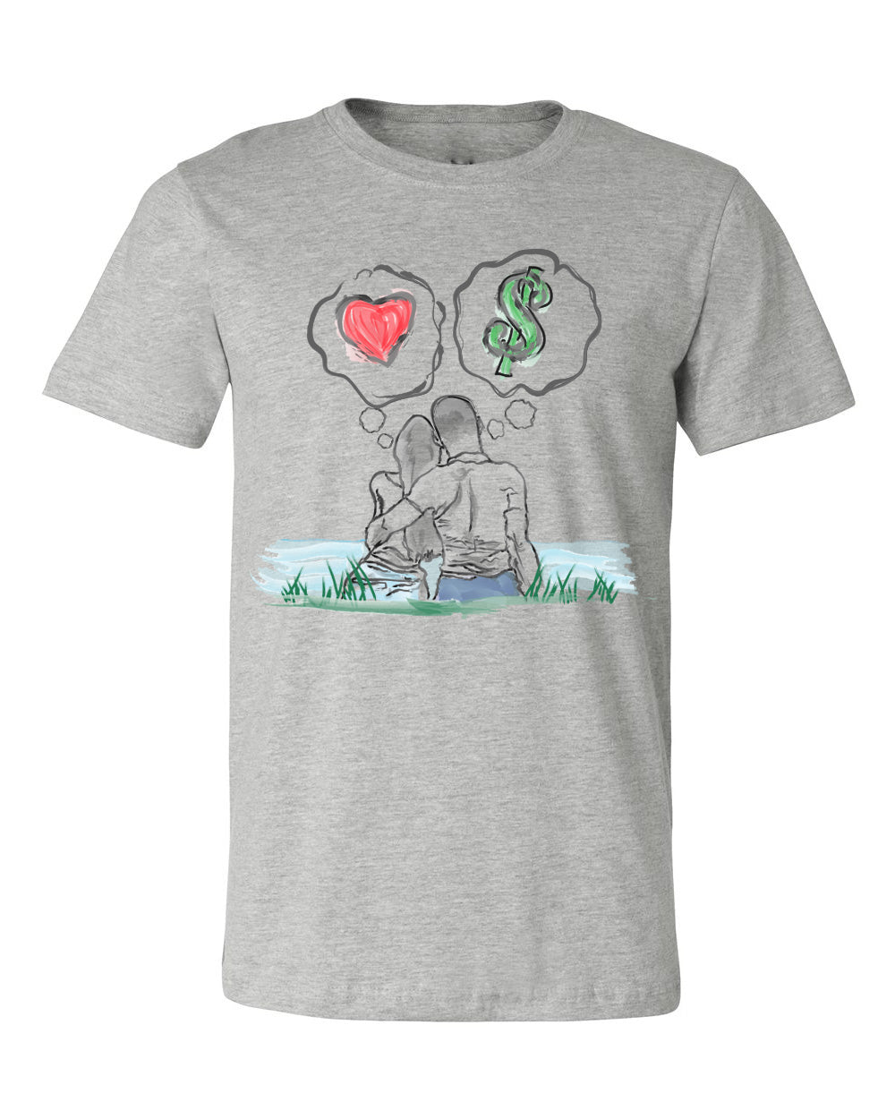 Guy Benson Collection Love Vs Money T-Shirt -Grey