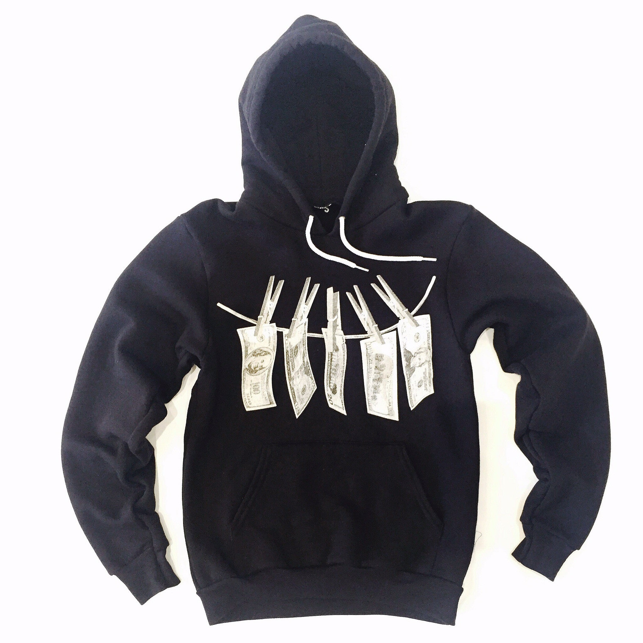 "365 Clothing ""Dirty Money"" Hoodie- Black/White"