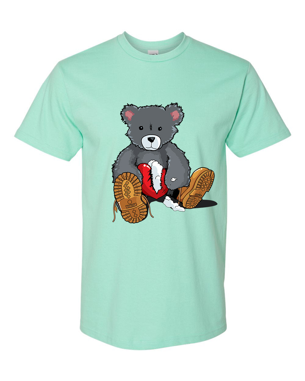 365 Clothing Broken Heart Bear T-Shirt -Mint