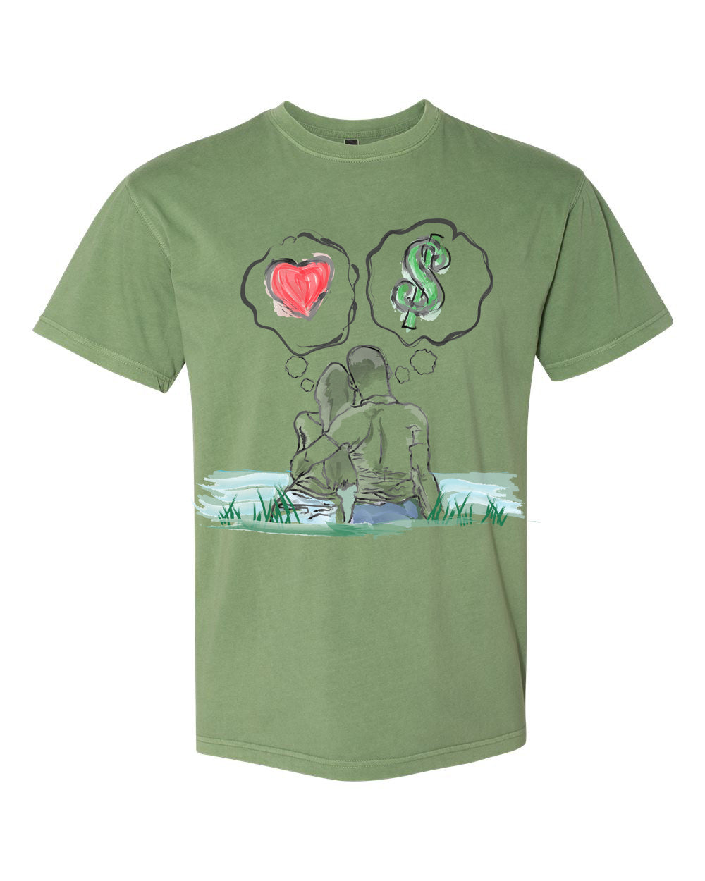 Guy Benson Collection Love Vs Money - Clover Green