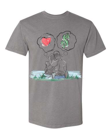 Guy Benson Collection Love Vs Money - Lead Grey