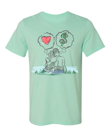 Guy Benson Collection Love Vs Money T-Shirt -Mint