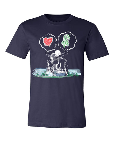 Guy Benson Collection Love Vs Money T-Shirt -Navy