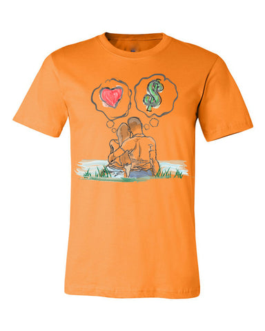 Guy Benson Collection Love Vs Money T-Shirt -Orange