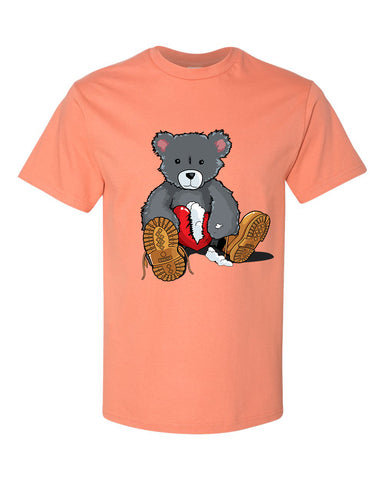 365 Clothing Broken Heart Bear T-Shirt -Peach