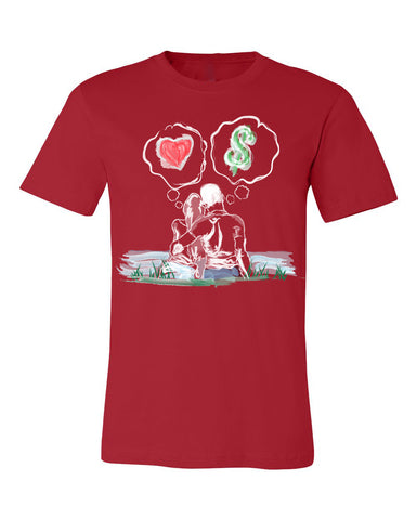 Guy Benson Collection Love Vs Money T-Shirt -Red