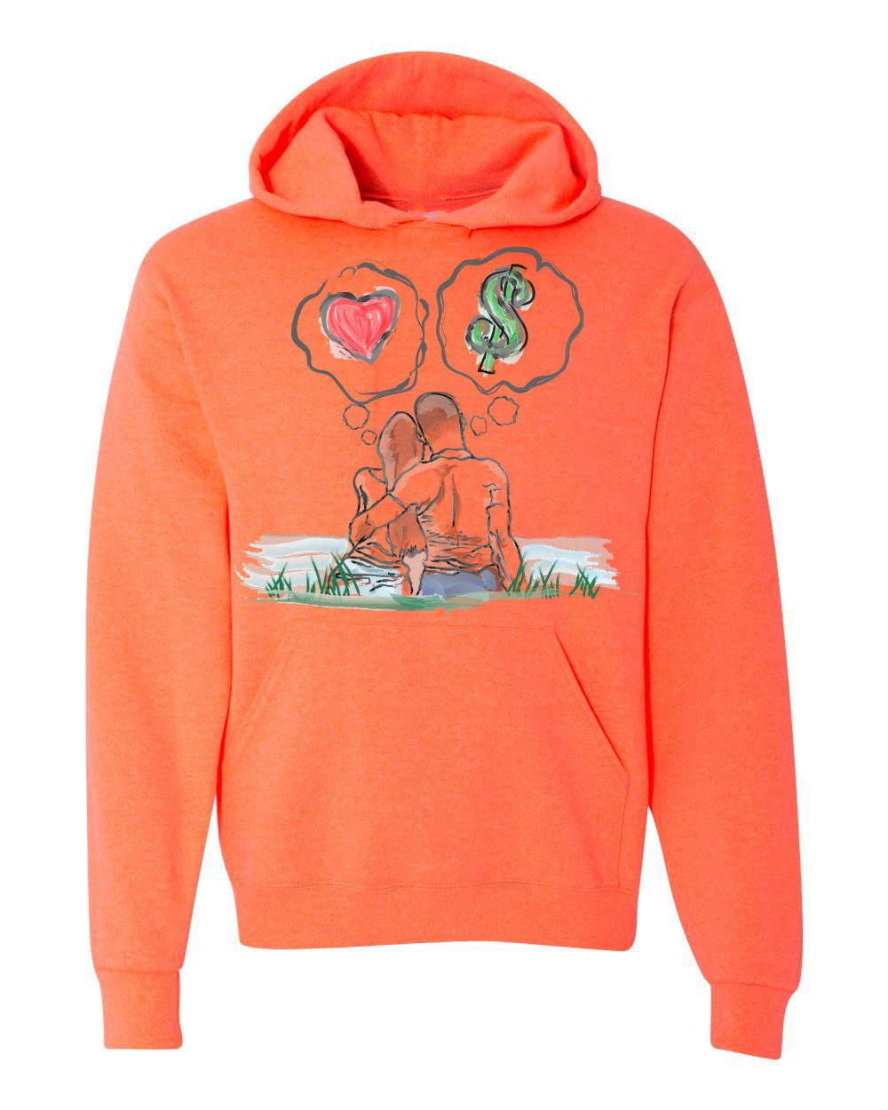 Guy Benson Collection Love Vs Money hoodie - adidas Yeezy Boost 700 Inertia color way