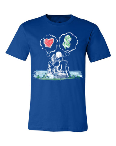 Guy Benson Collection Love Vs Money T-Shirt -Royal