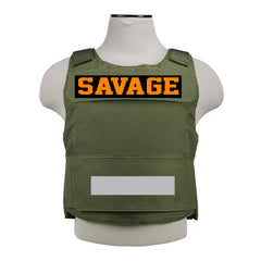 "365 Clothing ""Savage"" Embroidery Patch Vest -Olive Green"