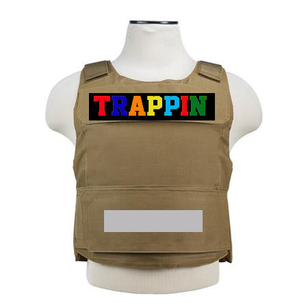 "365 Clothing ""Trappin"" Embroidery Patch Vest -Tan"