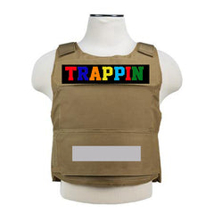 "365 Clothing ""Trappin"" Embroidery Patch Vest -Multicolor"