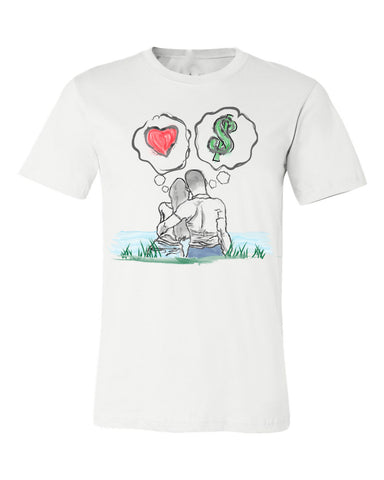 Guy Benson Collection Love Vs Money T-Shirt -White