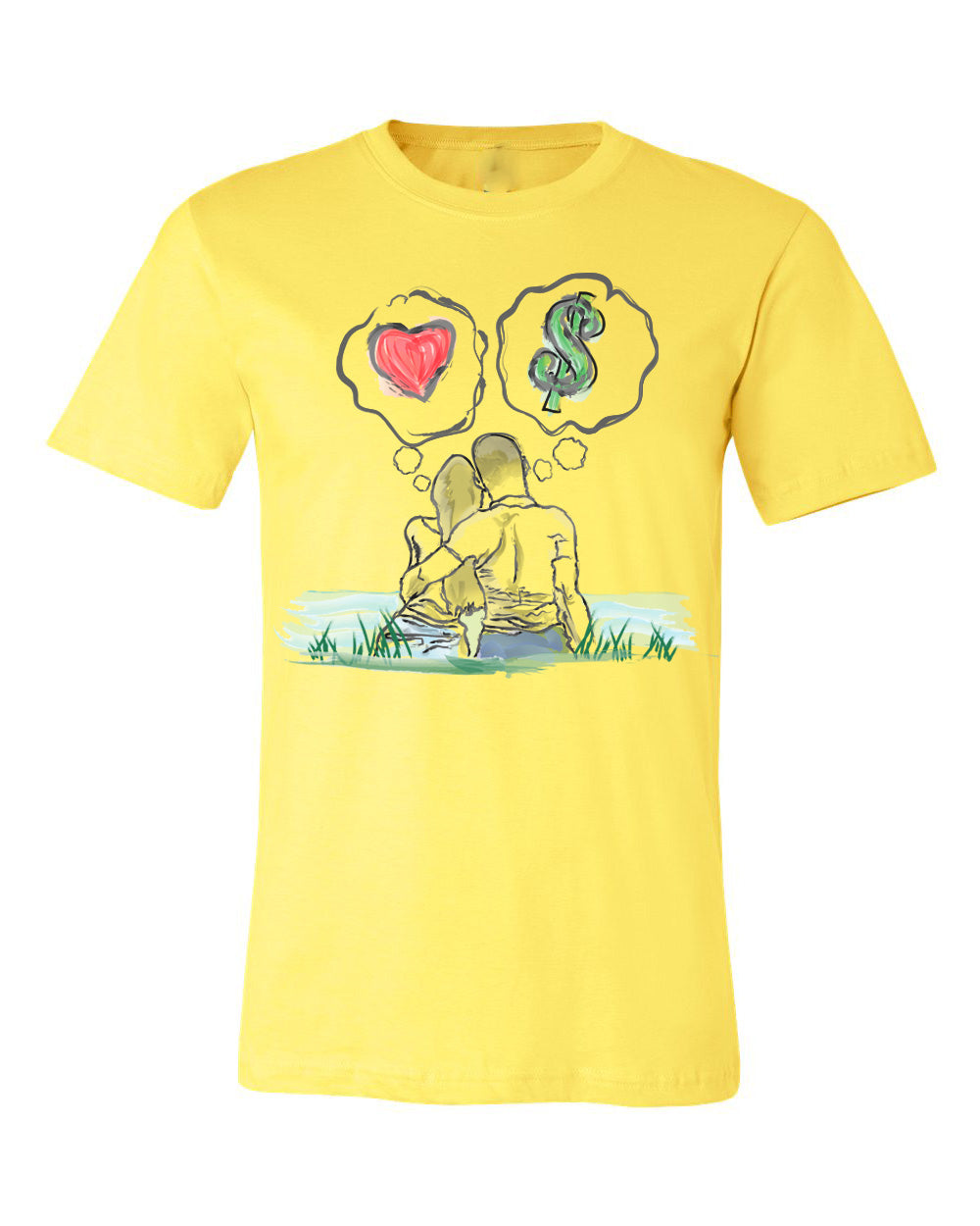Guy Benson Collection Love Vs Money T-Shirt -Yellow