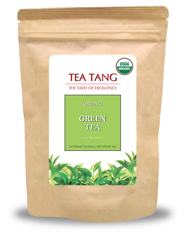 Organic Green Tea 24x2g Pyramid Tea Bag