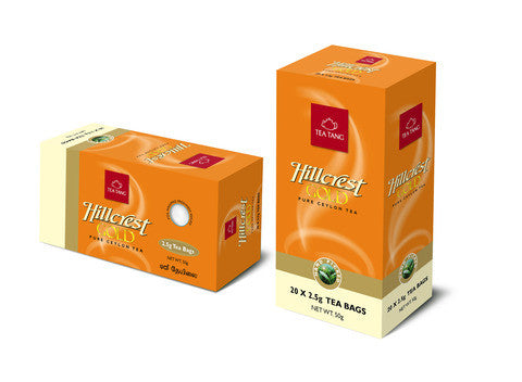 Hillcrest Gold 20x2.5g Tea Bag Carton
