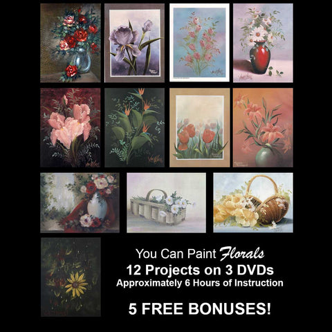 """You Can Paint"" - Florals - PLUS 5 -- FREE -- BONUSES!"