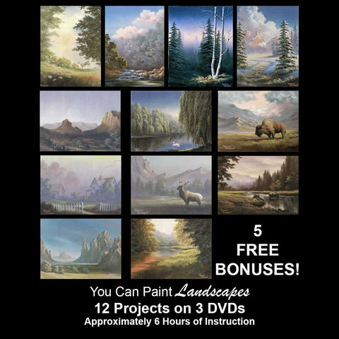 """You Can Paint"" - Landscapes - PLUS 5 -- FREE -- BONUSES!"