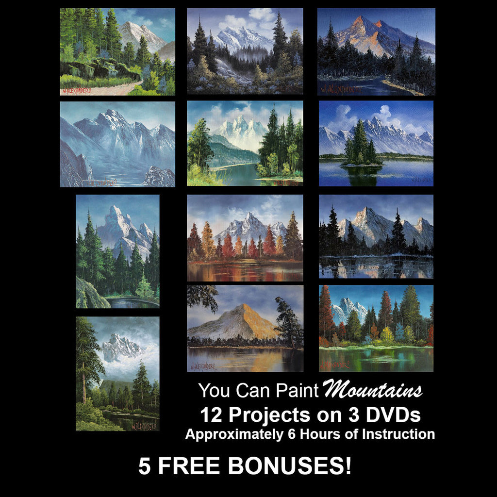 """You Can Paint"" - Mountains - PLUS 5 -- FREE -- BONUSES!"