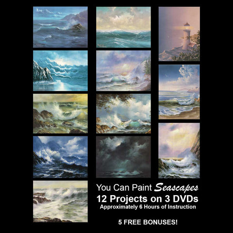 """You Can Paint"" - Seascapes - PLUS 5 -- FREE -- BONUSES!"