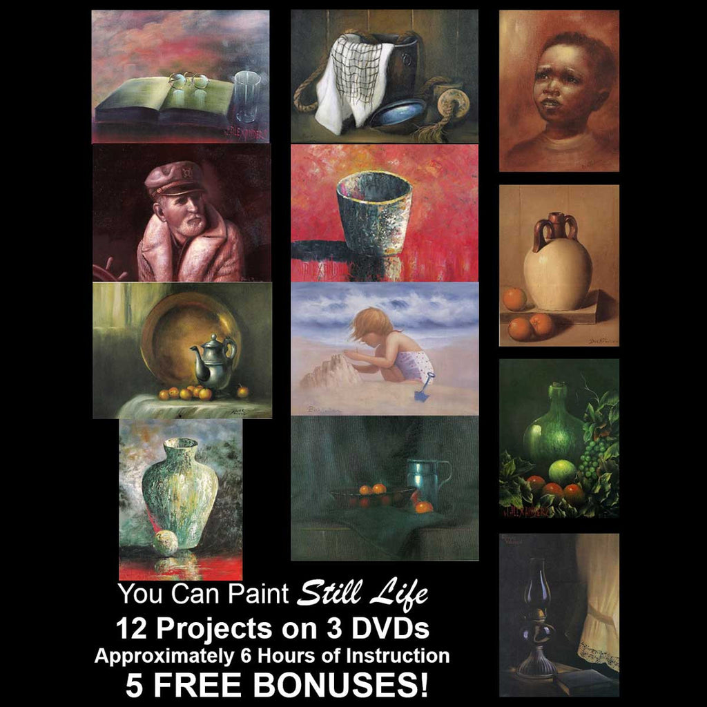 """You Can Paint"" - Still Life - PLUS 5 -- FREE -- BONUSES!"