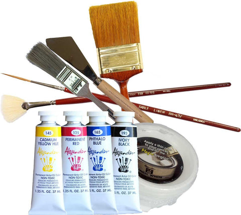 Yellow, Red, and Blue Art Course Complete Kit