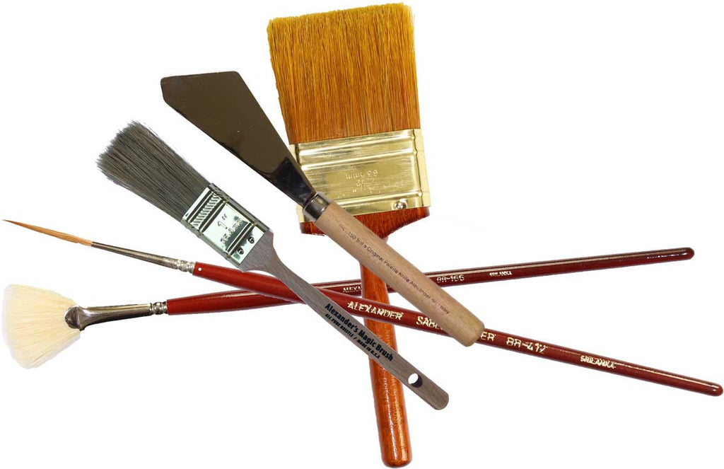 Yellow, Red, and Blue Art Course Brush Kit