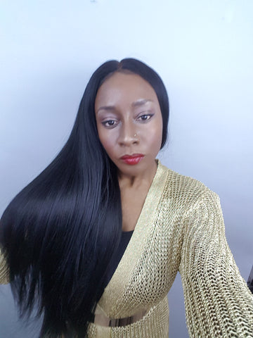 Cambodian Straight 6x6 CLOSURE Wig (3 bundles + closure) - Heavenly Lox