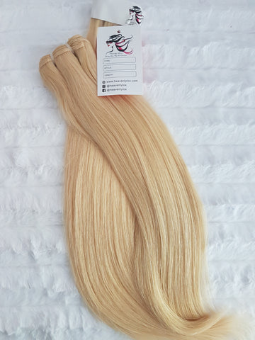 Luxe Blonde Straight SINGLE DONOR Bundles (extensions) - Heavenly Lox