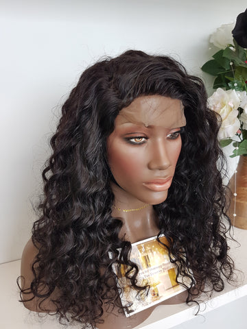 Cambodian Curl 4x4 CLOSURE Wig (150%) - Heavenly Lox
