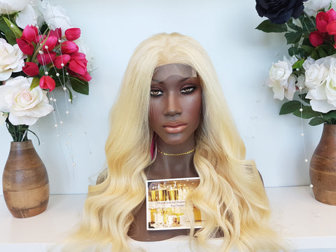 Cambodian Blonde Straight 5x5 CLOSURE Wig (3 bundles + closure) - Heavenly Lox
