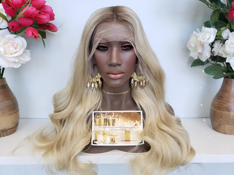 CAROLINE Ash Blonde Lace Wig - Heavenly Lox
