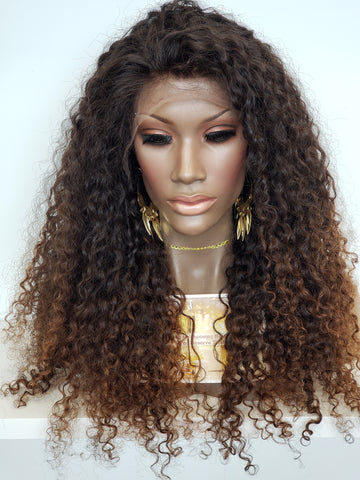 Curly Sunkissed Balayage Lace Wig - Heavenly Lox