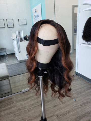 HD LACE Cambodian Caramel BALAYAGE 7x7 CLOSURE Wig (2 bundles + closure) - Heavenly Lox