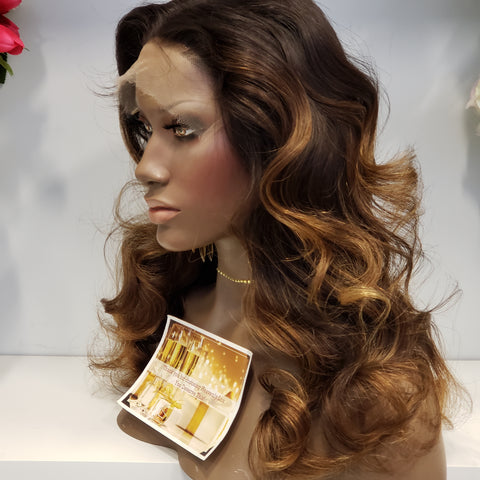 HD LACE Cambodian BALAYAGE 7x7 CLOSURE Wig (2 bundles + closure) - Heavenly Lox