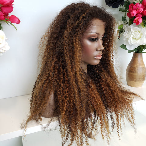 Kinky Curly Balayage Lace Wig - Heavenly Lox