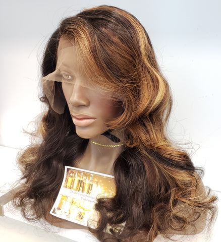 Golden Balayage Lace Wig