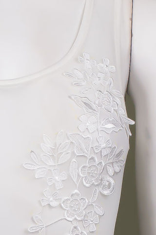 Just a Touch bodysuit (White) - Heavenly Lox