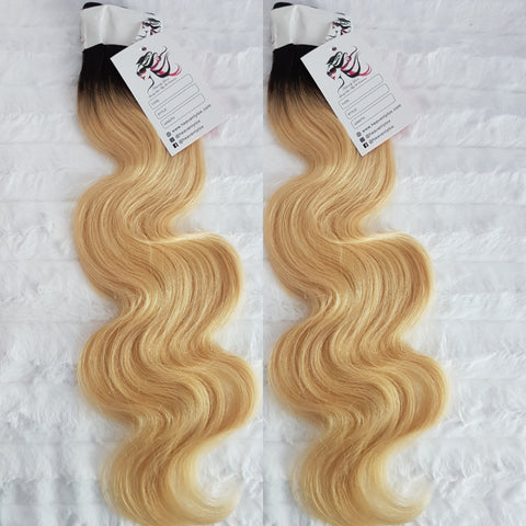 Luxe Blonde Ombre Wavy SINGLE DONOR Bundles (extensions) - Heavenly Lox